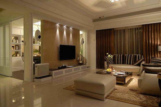 客厅瓷砖铺贴效果图   客厅瓷砖铺贴效果图5   地面瓷砖的