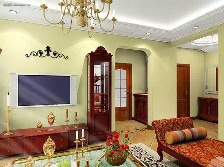 客厅吊顶效果图之温馨欧式吊顶   客厅吊顶效果图之温馨小