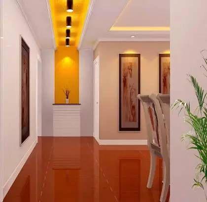 客厅进门玄关效果图:走廊吊顶装修效果图,很漂亮的灯光设计