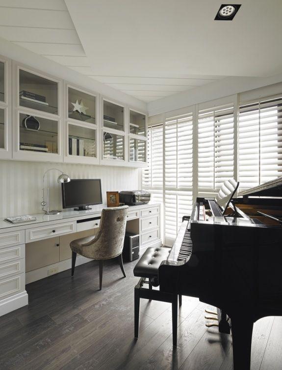 美式住宅室内书房装修设计效果图片