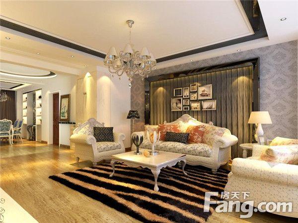 客厅壁纸装修效果图大全  相对比拥有浓厚欧洲风味的欧式装修风格