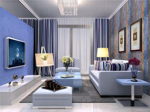 客厅装修壁纸效果图2016图片大全_客厅装修壁纸效果图案例欣赏