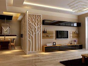 现代简约客厅电视背景墙装修效果图 5月设计大搜罗