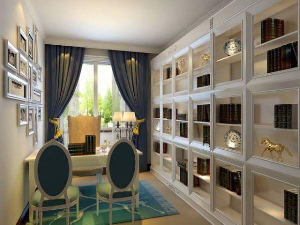 大全_50平米客厅装修效果图案例欣赏  小户型阳台书房兼卧室装修效果
