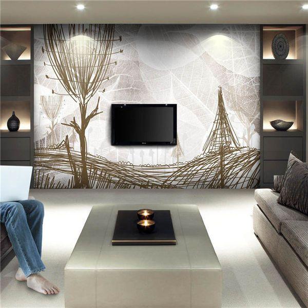 时尚客厅装修 2016年必看客厅电视背景墙壁纸效果图