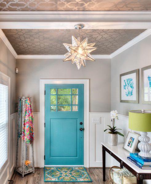 22款走廊吊顶装修效果图 炫酷的门厅玄关装修