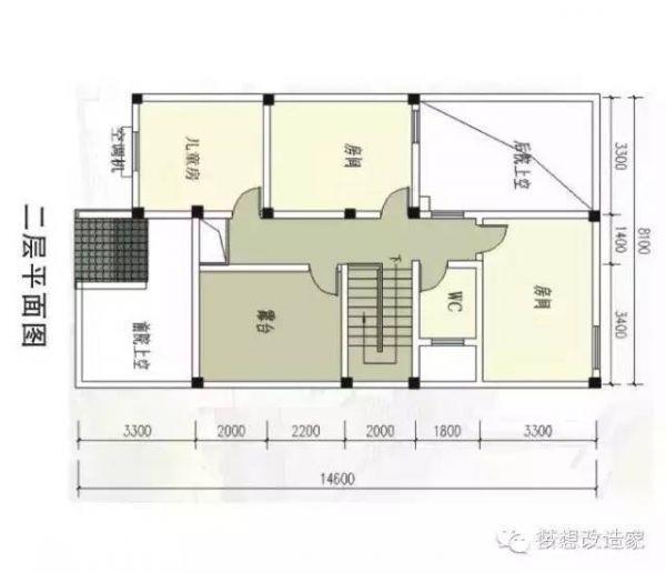 6米宽地基农村自建房设计图