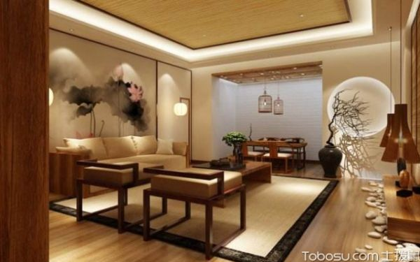 中式客廳吊頂技巧