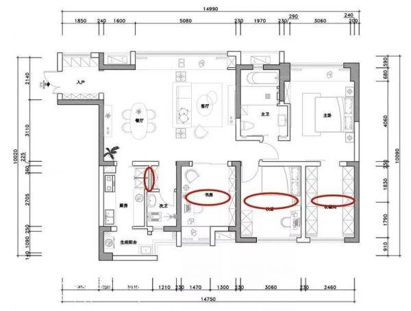 130㎡新房装修,客厅没做吊顶,效果却非常棒