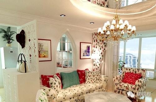 窗台,美式田园不经意间被装饰出来.   田园风格的客厅装修,温