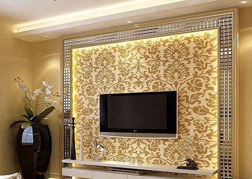 > 大户型客厅添新衣 8款电视背景墙设计    黑白拼接式的瓷砖墙面