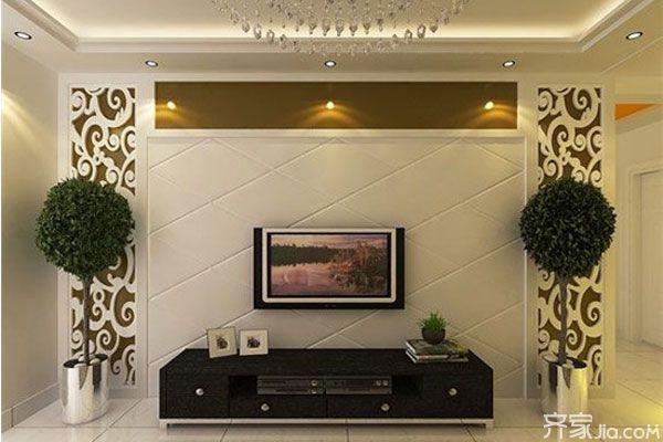 欧式风格电视背景墙图片