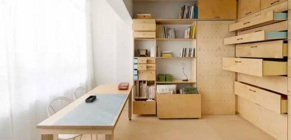 只有20平,竟有卧室,客厅,工作室,个人画廊.