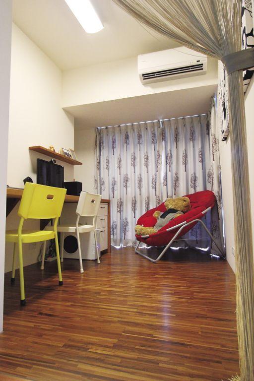 装修室内儿童房窗帘效果图