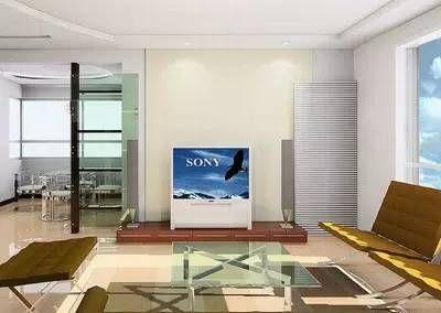 客廳電視墻裝修圖片:小房間如果用布料做背景墻則面積不宜過大.