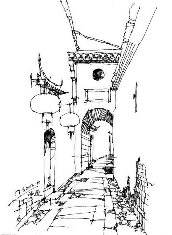 简单建筑素描步骤