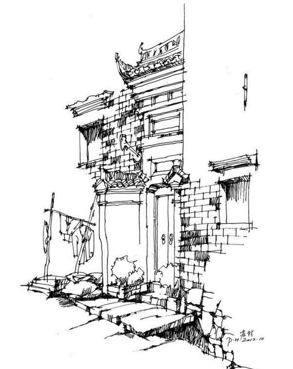 【速写】徽派建筑