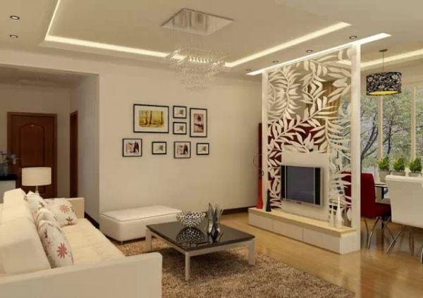 客厅电视墙隔断 电视墙装修效果图 隔断装修效果图