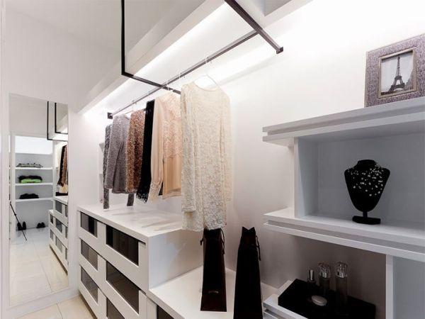现代简约设计室内衣帽间装修图片