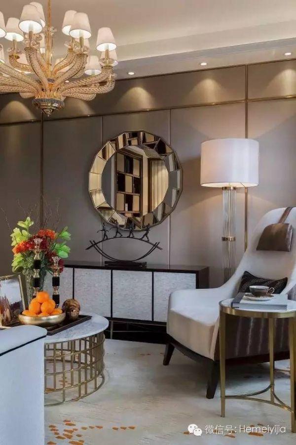 【水镜软装】室内设计的比赛与奢华_唱片装修设计打印3d节制潮流客厅图片