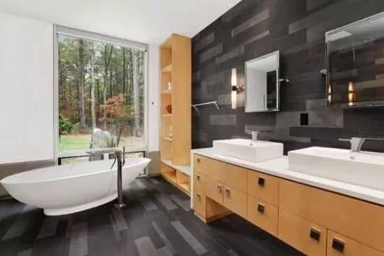 北欧风格主题空间 简约卫浴设计图片