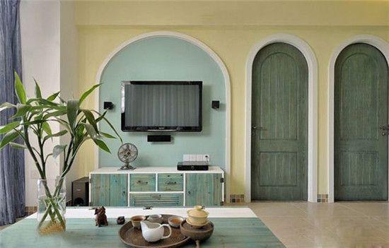 客厅电视墙背景效果图设计方案_客厅电视墙背景效果图大全  春风迎面