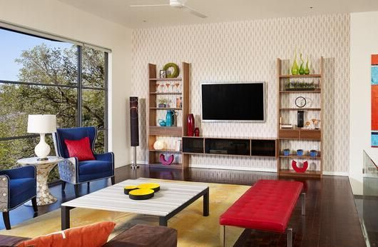 小户型客厅装修简约电视背景墙造型设计 2016新款客厅装修效果图