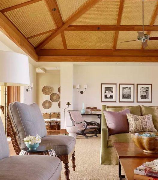 清新客厅装修效果图大全  在客厅装修中,除了背景墙能出效果以外,吊顶