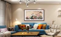 客廳掛什么字畫 精致花鳥畫恬靜祥和有品味
